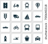 transport icons set. collection ... | Shutterstock .eps vector #700640218