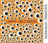 eyes frame. eyeball apple set.... | Shutterstock .eps vector #700647376