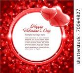 valentine's day frame vector... | Shutterstock .eps vector #70064827