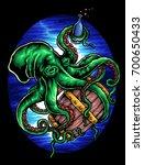 vector illustration of octopus... | Shutterstock .eps vector #700650433