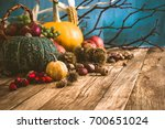 autumn fruit background. autumn ... | Shutterstock . vector #700651024