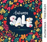 text sale in paper style on... | Shutterstock .eps vector #700651624