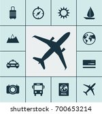 traveling icons set. collection ... | Shutterstock .eps vector #700653214