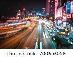 abstract bokeh city light at... | Shutterstock . vector #700656058
