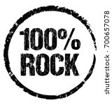 100  rock. grunge vector stamp...   Shutterstock .eps vector #700657078
