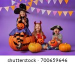happy brother and two sisters... | Shutterstock . vector #700659646