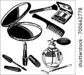 girl cosmetics | Shutterstock .eps vector #700662778