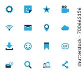 social colorful icons set.... | Shutterstock .eps vector #700663156