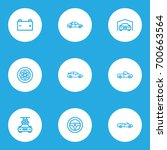 auto outline icons set.... | Shutterstock .eps vector #700663564