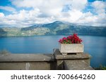 lake albano at castel gandolfo  ... | Shutterstock . vector #700664260