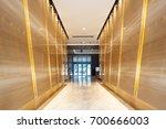interior of modern corridor in... | Shutterstock . vector #700666003