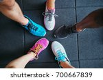 high angle of a group of people'... | Shutterstock . vector #700667839