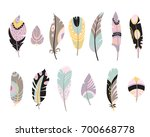 vector set of vintage hand... | Shutterstock .eps vector #700668778