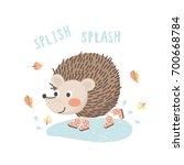 cartoon hedgehog in rubber