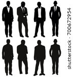 silhouette of man collection ... | Shutterstock .eps vector #700672954