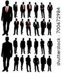 vector  isolated  silhouette of ... | Shutterstock .eps vector #700672984
