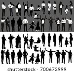 vector  isolated  silhouette of ... | Shutterstock .eps vector #700672999