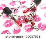 decorative cosmetics   Shutterstock . vector #70067536