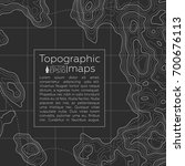 background of the topographic... | Shutterstock .eps vector #700676113