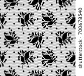 lace floral vector black... | Shutterstock .eps vector #700678540