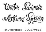 spring summer autumn winter... | Shutterstock .eps vector #700679518