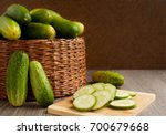 a lot of cucumbers in the... | Shutterstock . vector #700679668