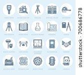 geodetic survey engineering...   Shutterstock .eps vector #700686778