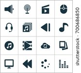 music icons set. collection of... | Shutterstock .eps vector #700686850