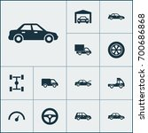car icons set. collection of... | Shutterstock .eps vector #700686868