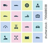 car icons set. collection of... | Shutterstock .eps vector #700688038