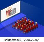 isometric flat 3d concept...   Shutterstock .eps vector #700690264