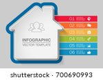 vector infographic template for ... | Shutterstock .eps vector #700690993
