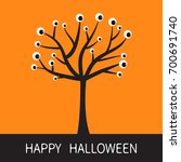 happy halloween card. black... | Shutterstock . vector #700691740
