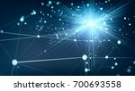 abstract network background....   Shutterstock . vector #700693558