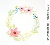 hand drawing flowers  in... | Shutterstock . vector #700694170