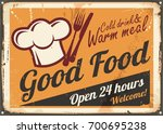 restaurant food sign design.... | Shutterstock .eps vector #700695238