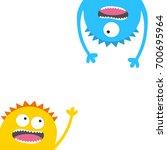 screaming monster head... | Shutterstock . vector #700695964