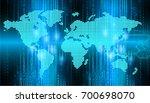 binary circuit future...   Shutterstock . vector #700698070