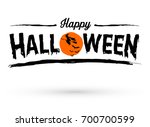 happy halloween text banner ... | Shutterstock .eps vector #700700599
