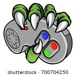 monster hand or claw holding a... | Shutterstock .eps vector #700704250
