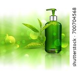 realistic  green  transparent... | Shutterstock . vector #700704568