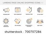flat line design concept icons... | Shutterstock .eps vector #700707286
