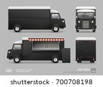 black food truck hi detail mock ... | Shutterstock .eps vector #700708198