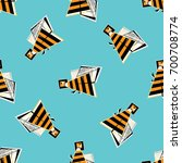 bees seamless pattern. abstract ... | Shutterstock .eps vector #700708774