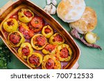 stuffed peppers. perfect... | Shutterstock . vector #700712533