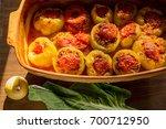 stuffed peppers. perfect... | Shutterstock . vector #700712950
