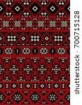 vector seamless ethnic borders. ... | Shutterstock .eps vector #700715128