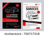 set of automotive services... | Shutterstock .eps vector #700717318