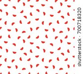 seamless pattern with a red... | Shutterstock .eps vector #700718320