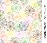 abstract colorful   floral... | Shutterstock .eps vector #700718344